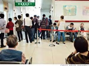 Visiting a Chinese hospital can be a long wait. Source: CNN