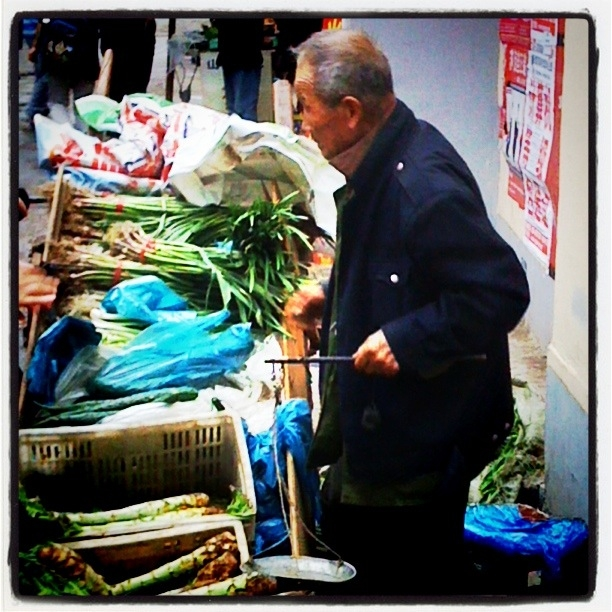 This vegetable seller was a  comforting, constant presence in the neighborhood.